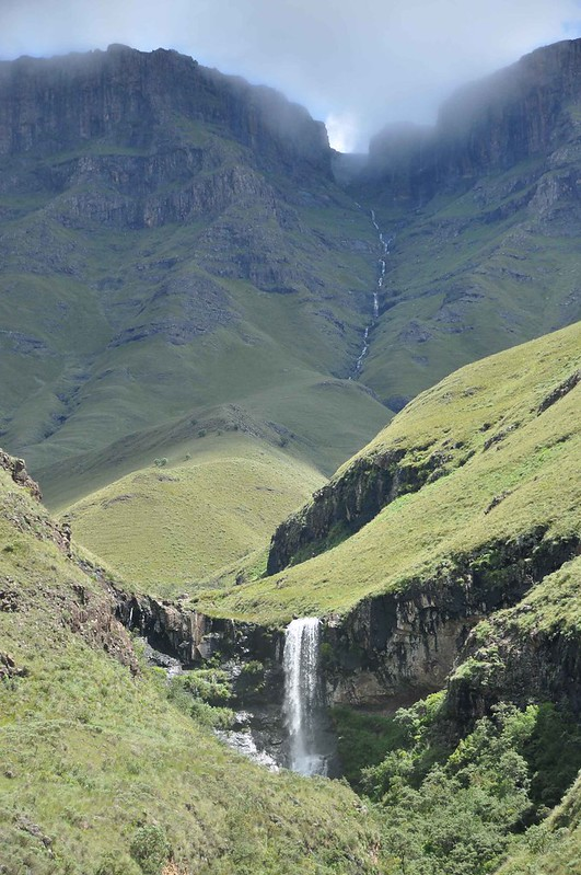 Stunning waterfalls beside the Sani pass