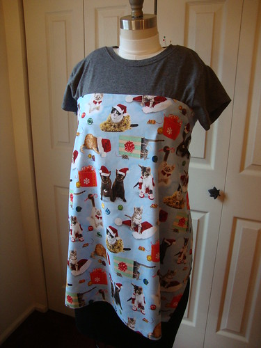 Christmas cat apron for my mom