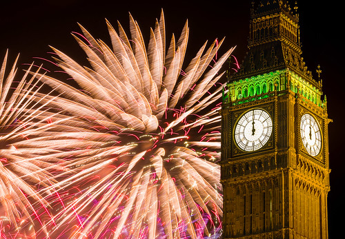 show england london display fireworks housesofparliament bigben newyear epic 2014