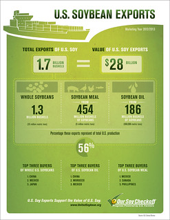US Soybean Exports Infographic