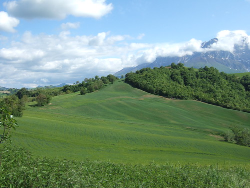 House and Gran Sasso from North - May (a)