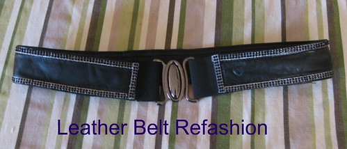 leather refashion into a belt