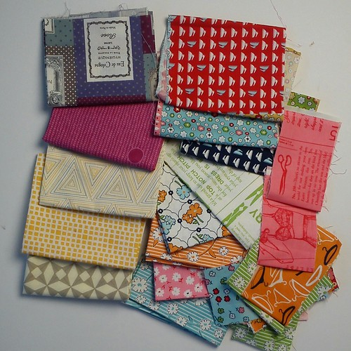 Swap fabrics received from Lily's Quilts