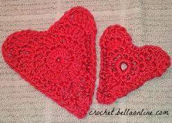 applique hearts