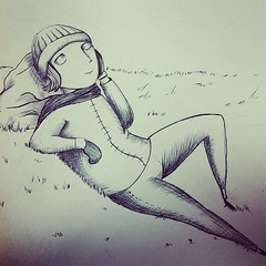 """SE VIENE UN PROYECTO GENIAL. """"Ojalá un romance con el sol"""".. Texto: Carolina Calle Vallejo  #ilustración #morphart  #illustration #sketch #wip #workinprogress #ink"""