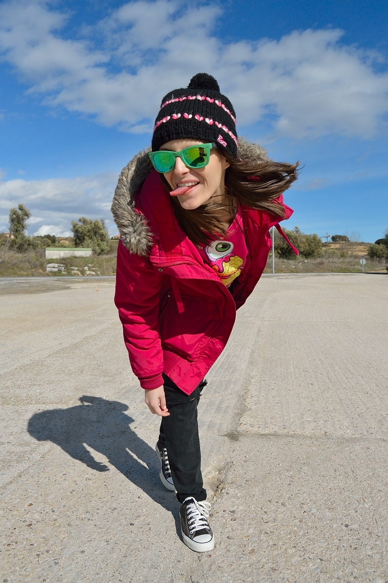 lara-vazquez-madlula-blog-fashion-green-sunglasses-winter-fucsia-sheinside