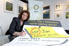 Culture Minister Ní Chuilín - Líofa New Years Resolution