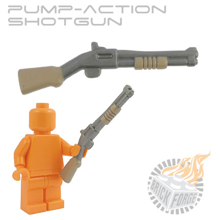 Pump-Action Shotgun - Steel (dark tan pump & stock print)