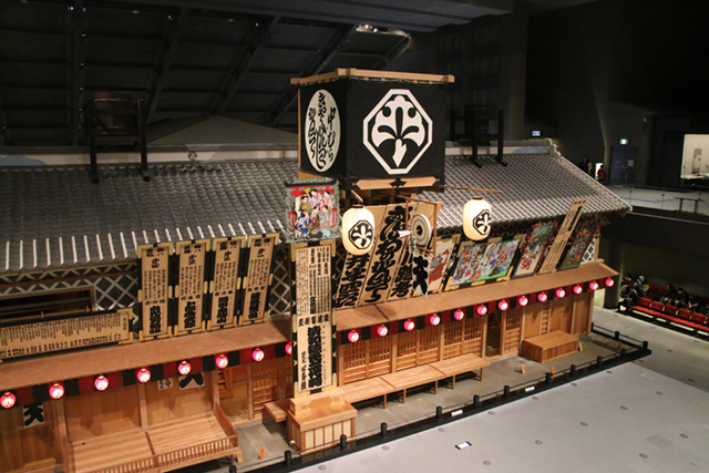 Life-size construction at the Edo-Tokyo Museum