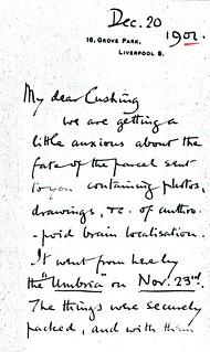 Sherrington to Cushing - 20 December 1902 (WCG 32.5)