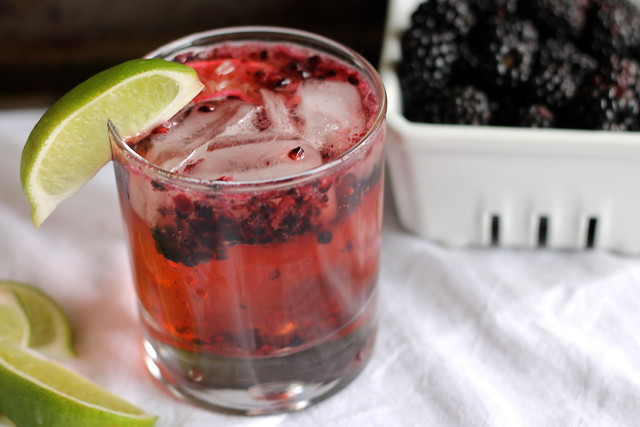 Moscow Mule with Muddled Blackberries