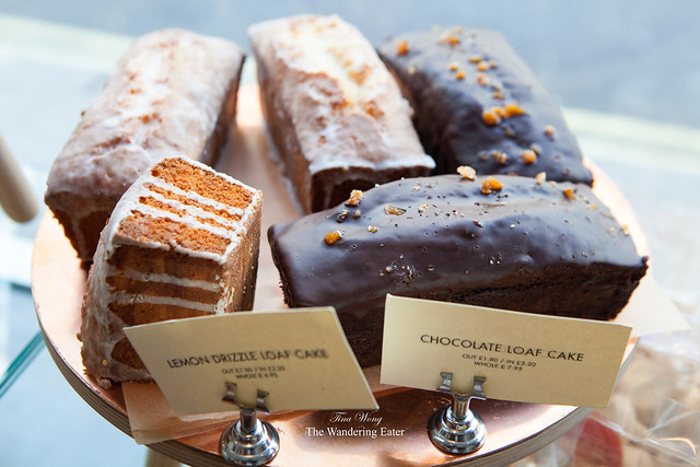 Chocolate Loaf Cakes and Lemon Drizzle Loaf Cakes
