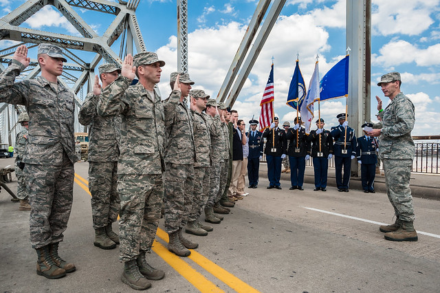 Director of Air Guard swears in 15 Airmen to start Thunder Over Louisville