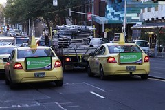 Advertising on the back of Melbourne taxis
