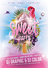 Sweet Party  Flyer-Poster