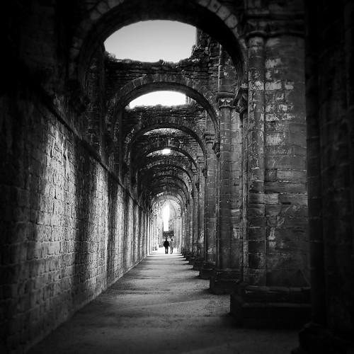 Down The Aisle, Fountains Abbey, Yorkshire