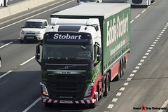 Volvo FH 6x2 Tractor with 3 Axle Curtainside Trailer - KM63 ZYU - Evie Mai - Eddie Stobart - M1 J10 Luton - Steven Gray - IMG_5610