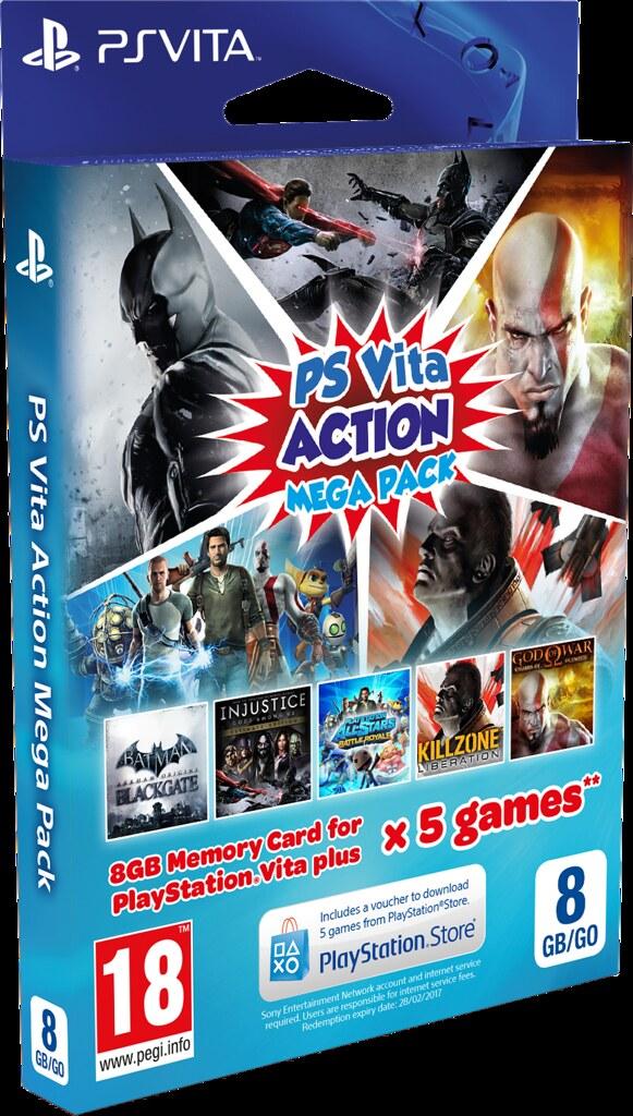 Бандл PS Vita Action Mega Pack появится этим летом