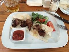 meal, lunch, meat, food, dish, kebab, cuisine, souvlaki,