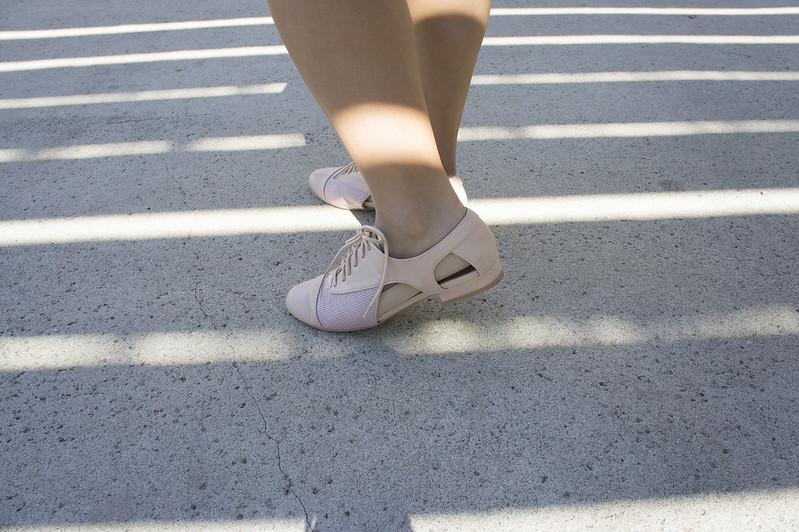 cut out blush shoes