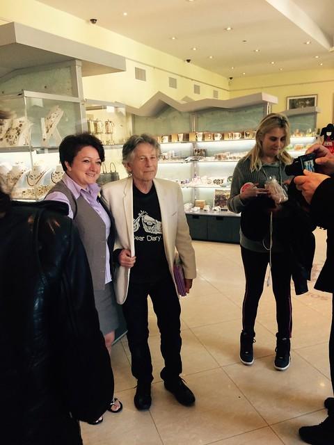 Roman Polanski visiting Wieliczka
