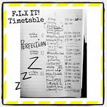 F.I.X IT! Timetable #ABeautifulMess #gtd