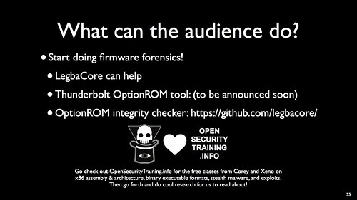 Thunderstrike 2 presentation at DefCon/Blackhat 2015