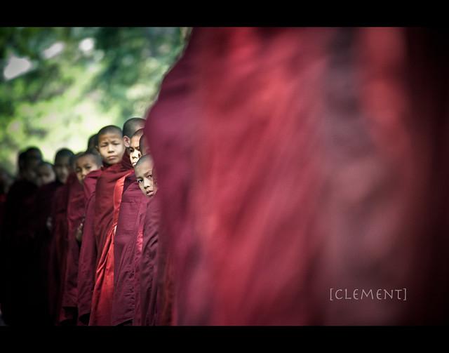 Monk serving