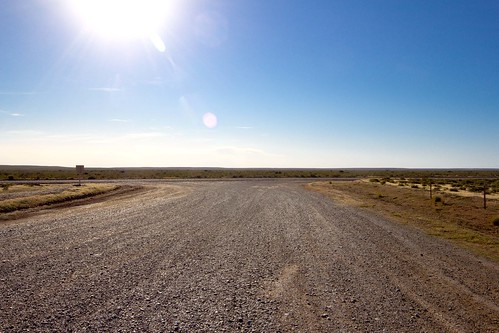 Carretera de ripio en Península Valdés