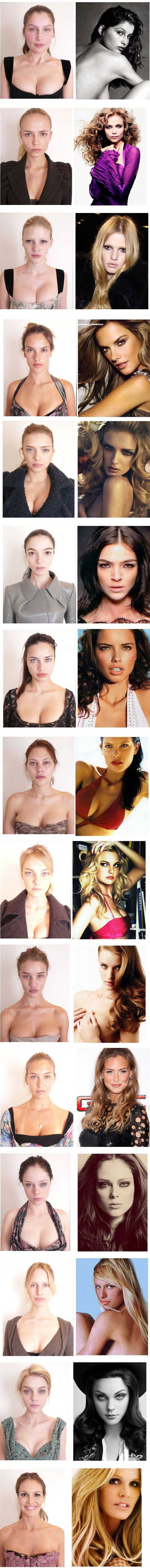 Supermodel's without makeup