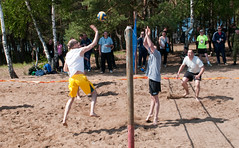 football(0.0), beach handball(0.0), sports(1.0), beach volleyball(1.0),