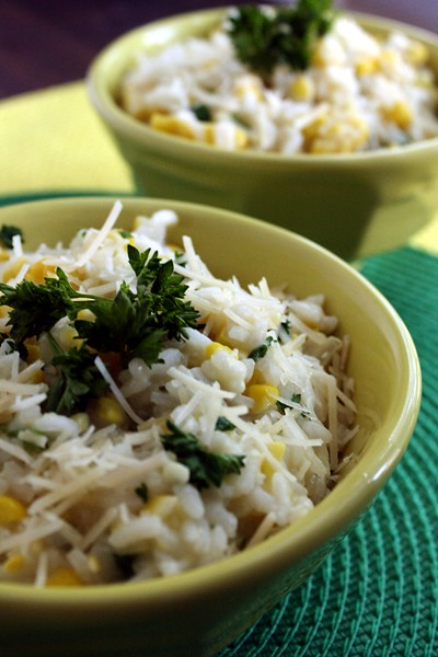 9011321789 6a6bf7c39f z Buttery Summer Corn Risotto