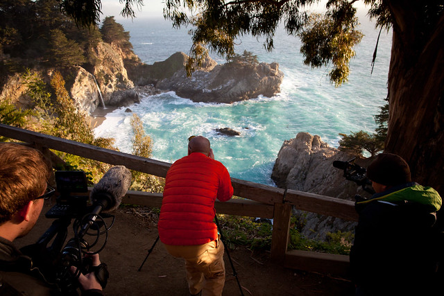 Manfrotto Be Free Tripod ad shoot BTS - McWay Falls