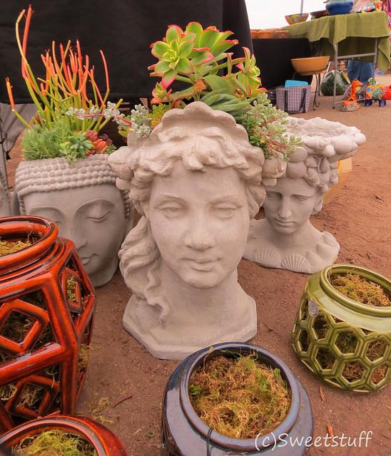 Cement head planters