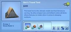 Sim's Travel Tent