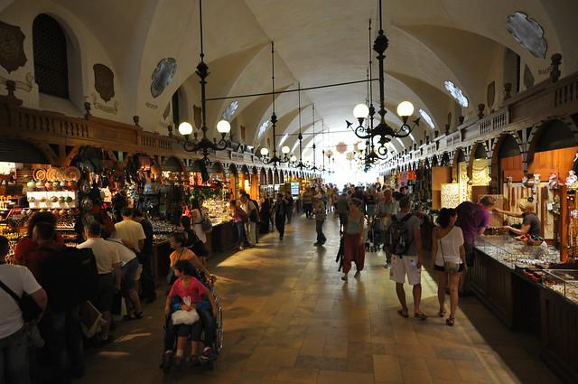 Interior of the Sukiennice in Main Square