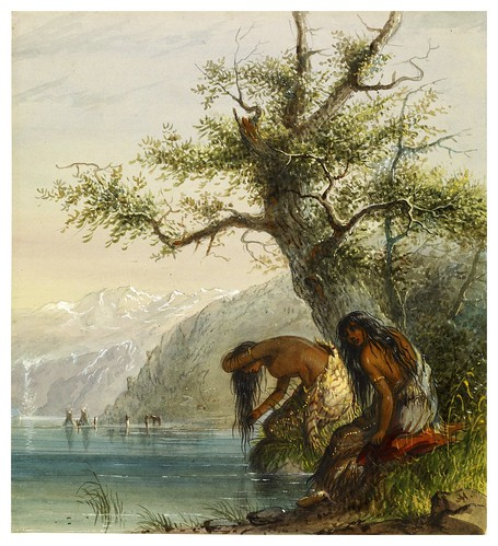 001-Mujeres indias aseandose-Alfred Jacob Miller-1858-1860-Walters Art Museum