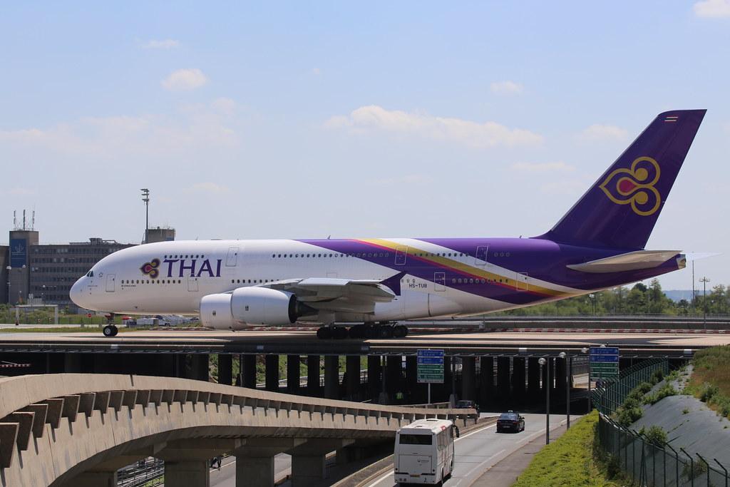 Thai Airways Airbus A380 in Paris CDG