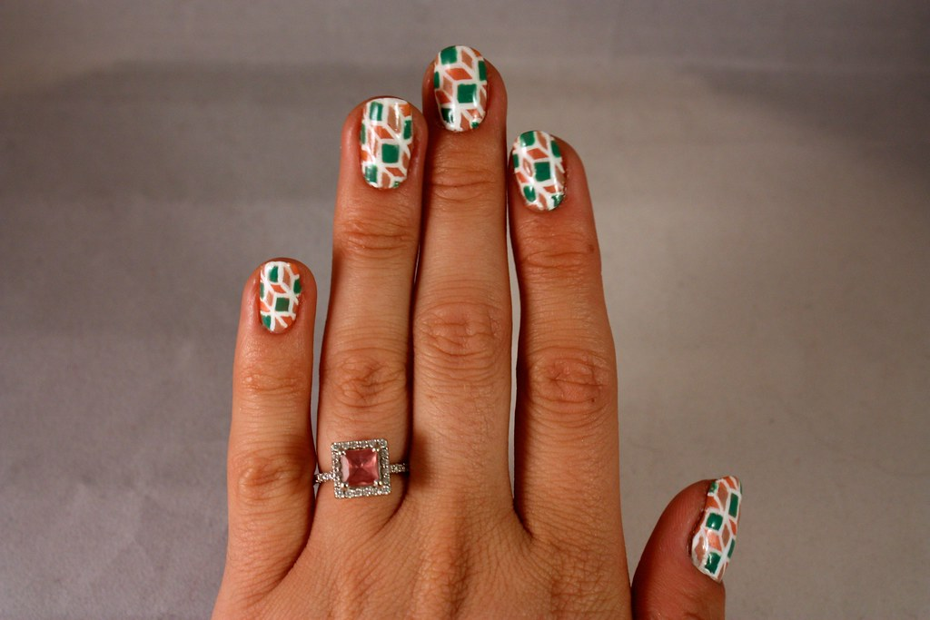 Graphic Geometric Manicure - R29 Nail Art Nation Week 1