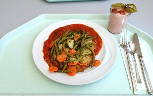 Tellerrösti mit Gemüse gratiniert