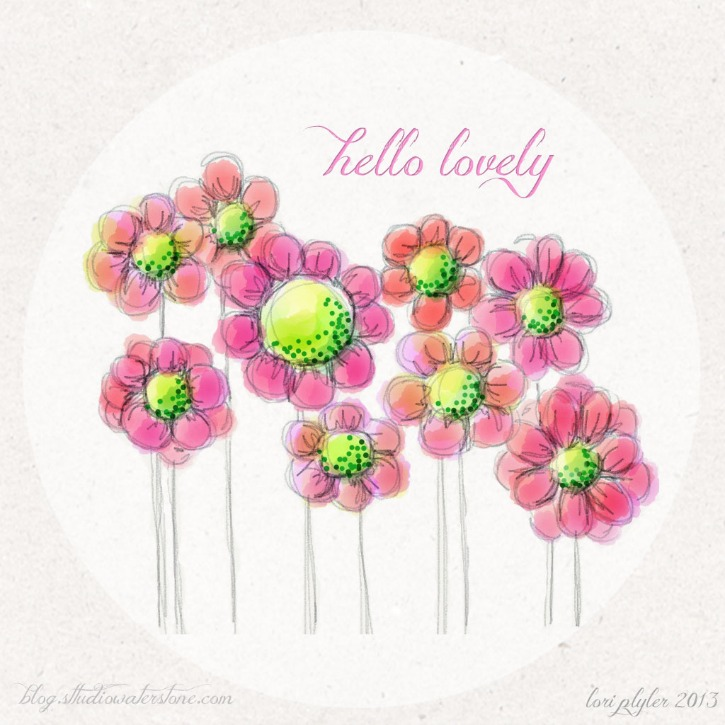 Hello Lovely Floral iPad Background