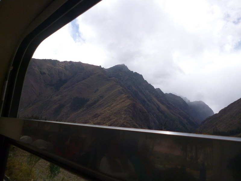 View from Expedition train to Machu Picchu