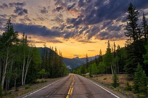 road sunset summer clouds highway colorado peak sanjuanmountains 149 uncompahgre