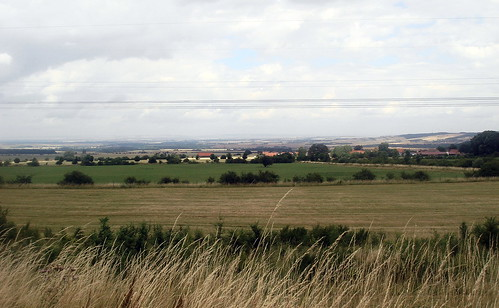 scenic view of the countryside area between Erfurt and Weimar