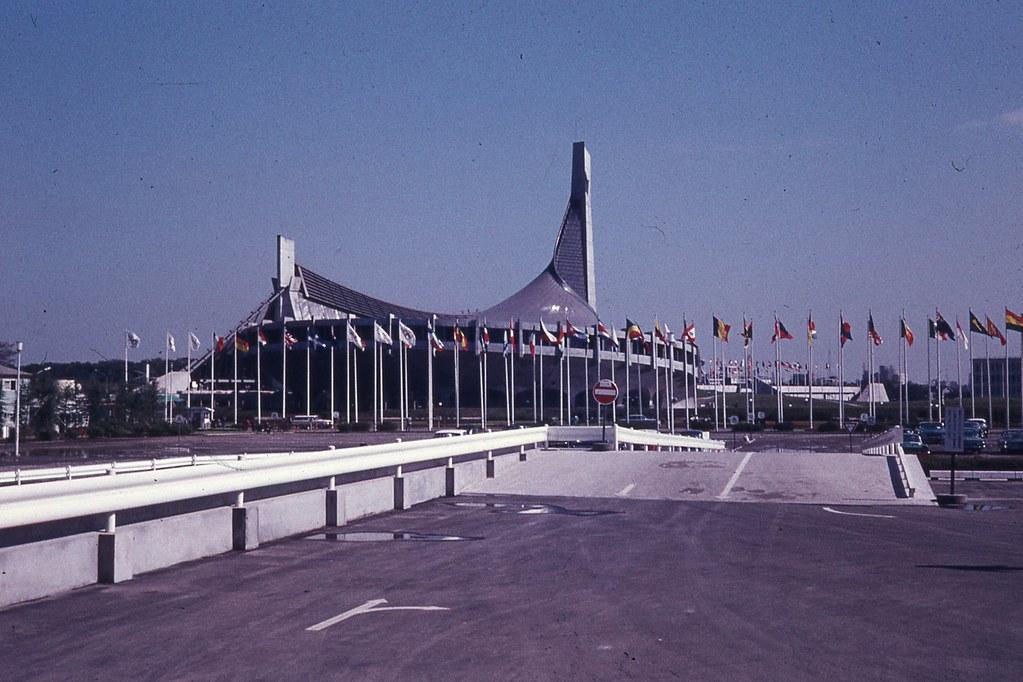 Yoyogi National Gymnasium, Tokyo, 1964 Olympic Games.