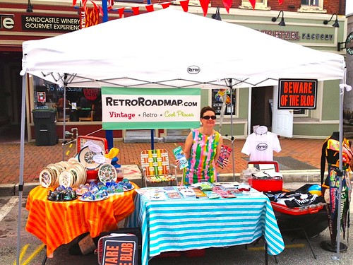 Mod Betty at the Retro Roadmap Booth Blobfest 2013 Phoenixville PA