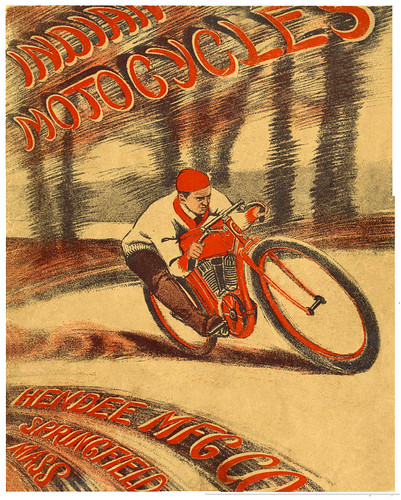 1909 Indian Racer Catalog Cover by bullittmcqueen