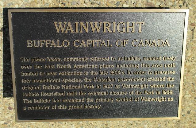 Wainwright (AB) Canada  City pictures : Wainwright Buffalo Capital of Canada Marker Wainwright, Alberta ...