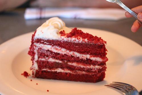 Red velvet cake from Liberty Kitchen in Houston, TX