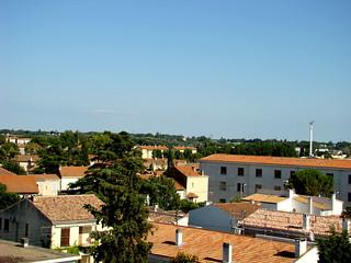107 uitzicht vanaf dak hotel Arles